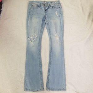 Distressed blue Jean's